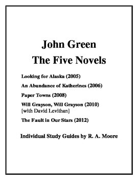 """Looking for Alaska"" and ... by John Green: Study Guides"