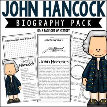 John Hancock Biography Pack (Revolutionary Americans)