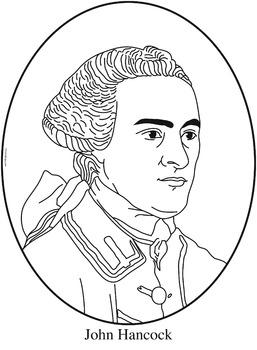 John Hancock Clip Art, Coloring Page, or Mini-Poster