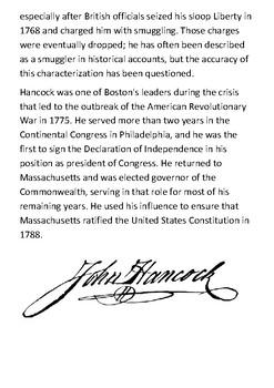 John Hancock Handout