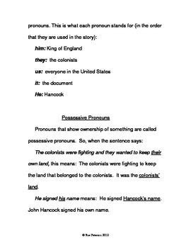John Hancock and a Study of Pronouns
