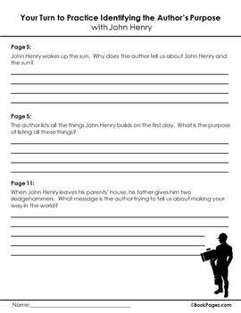 John Henry  Lesson Plans & Activities Package, Fourth Grade (CCSS)