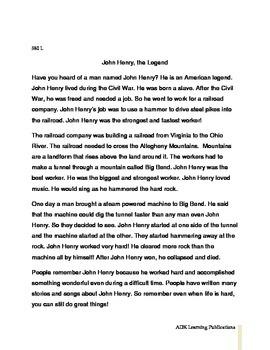 John Henry Leveled Close Read Passages