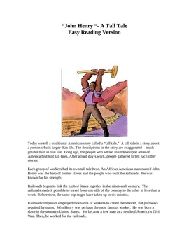 John Henry Tall Tale - Easy Reading Version