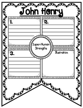 John Henry Tall Tale Reading Comprehension Banner