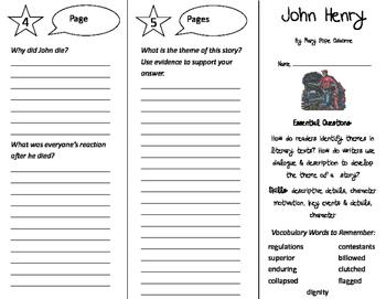 John Henry Trifold - ReadyGen 2016 4th Grade Unit 2 Module A