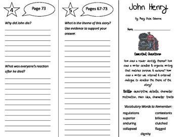 John Henry Trifold - ReadyGen 4th Grade Unit 2 Module A