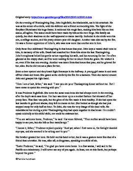 John Inglefield's Thanksgiving an adaptation with activities