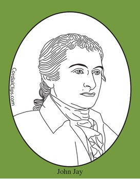 John Jay Clip Art, Coloring Page, or Mini-Poster