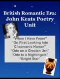 John Keats Poetry unit: 5 British Romantic era poems w/ Answer Keys