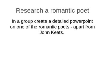 John Keats - Romantic Poetry Unit