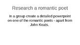 John Keats - Romantic Poetry Unit