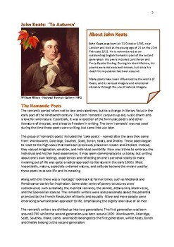 John Keats 'To Autumn Poem Study and Questions