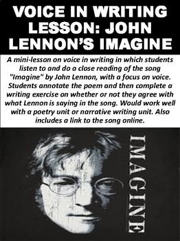 """Voice in Writing Lesson: John Lennon's """"Imagine"""""""