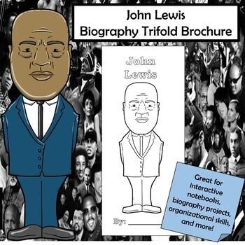 John Lewis Biography Trifold Brochure