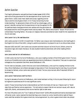 John Locke Reading w/Questions