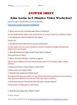 John Locke in 9 Minutes Video Worksheet