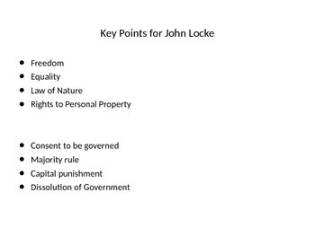 John Locke's Second Treatise