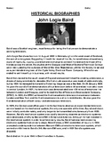 John Logie Baird Biography Article and Summary Assignments