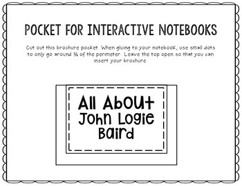 John Logie Baird - Inventor Research Project Interactive Notebook, Scientist