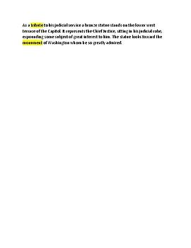 John Marshall 2 -- CLOZE Reading