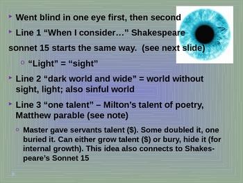 John Milton When I Consider poetry analysis
