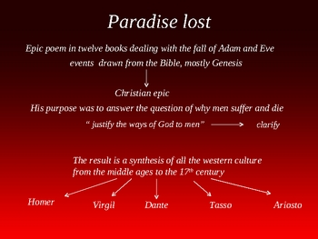 John Milton and Paradise lost