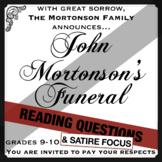 """John Mortonson's Funeral"": Literary Analysis & Creative Thinking Task"