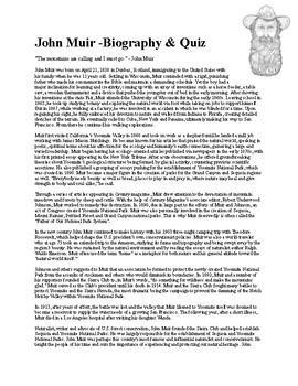 John Muir Biography & Quiz