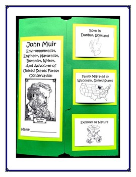John Muir Environmentalist Lapbook