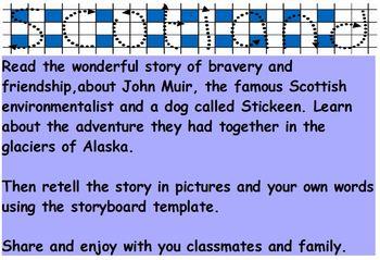 Famous Scot: John Muir and Stickeen  Scotland Discovery trail Passport Activity