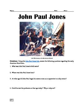 John Paul Jones Webquest
