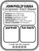 John Philip Sousa, Classical Composer Music Unit Study, November Birthday