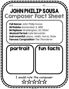 Sousa, Classical Composer, November, Autumn, Handwriting, Music, USA