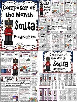 John Philip Sousa (Composer of the Month) BUNDLE