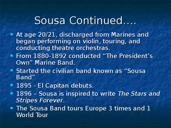 John Philip Sousa Powerpoint