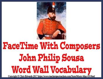 John Philip Sousa Word Wall Vocabulary