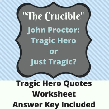 the crucible proctor tragic hero essay Essay john proctor as a tragic hero : writing and editing services the crucible, written in 1953 by arthur miller is an accurate portrait of the which hunts and trials in salem massachusetts during the 17th century.
