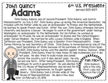 John Quincy Adams: Biography, Timeline, Graphic Organizers, Text-based Questions