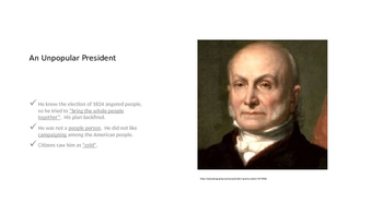 John Quincy Adams Guided Notes PowerPoint