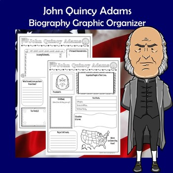 John Quincy Adams President Biography Research Graphic Organizer