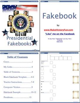 John Quincy Adams Presidential Fakebook Template