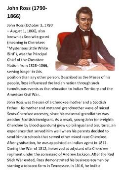 John Ross Handout with activities