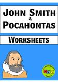 John Smith & Pocahontas - Worksheets