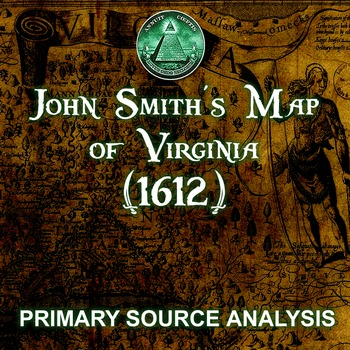 John Smith's Map of Virginia (1612) - Digital & Print - Pr