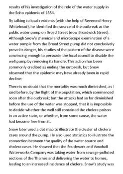John Snow and Cholera Handout