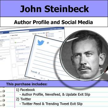 John Steinbeck - Author Study - Profile and Social Media