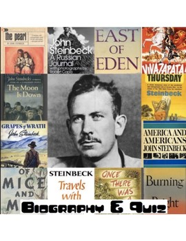 John Steinbeck Biography & 40 Multiple Choice Question Quiz (w/ Key)