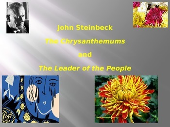 "John Steinbeck: ""The Chrysanthemums"" Essential Journal Questions"