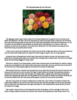 a story overview of john steinbecks the chrysanthemums Chrysanthemums john steinbeck - john steinbeck's short story, the chrysanthemums.